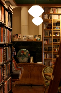 fireplace and sitting area, Full Circle Books, c2015, KB